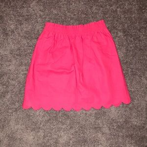 Magenta J crew scalloped bottom mini skirt